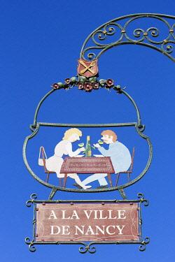 HMS3407659 France, Haut Rhin, Route des Vins d'Alsace, Eguisheim labelled Les Plus Beaux Villages de France (One of the Most Beautiful Villages of France), shop sign