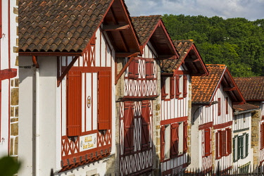 HMS3324826 France, Pyrenees Atlantiques, Bask country, Labeled The Most Beautiful Villages of France