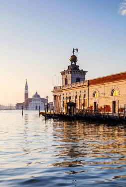 ITA14857 Italy. Veneto. Venice. The Punta della Dogana and San Giorgio Maggiore.