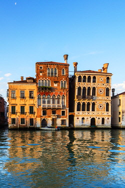 ITA14862 Italy. Veneto. Venice. Palaces on the Gran Canal.