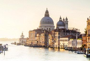 ITA14866 Italy. Veneto. Venice. The Santa Maria della Salute Church on the Gran Canal.