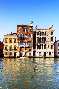 ITA14904 Italy. Veneto. Venice. Palaces on the Gran Canal.