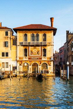 ITA14927 Italy. Veneto. Venice. Facade of the Palazzo Salviati on the Gran Canal.