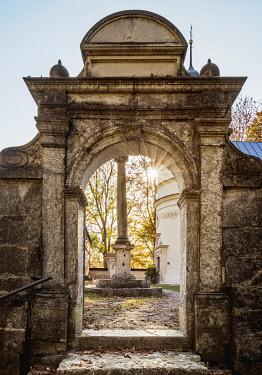 POL2178AW Church by the Salomea Hermitage, Grodzisko, Ojcow National Park, Krakow-Czestochowa Upland or Polish Jurassic Highland, Lesser Poland Voivodeship, Poland