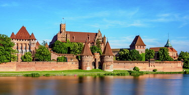 POL2194AW Castle of the Teutonic Order in Malbork, Pomeranian Voivodeship, Poland