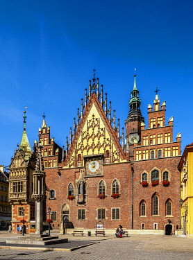 POL2291AW Old Town Hall, Wroclaw, Lower Silesian Voivodeship, Poland