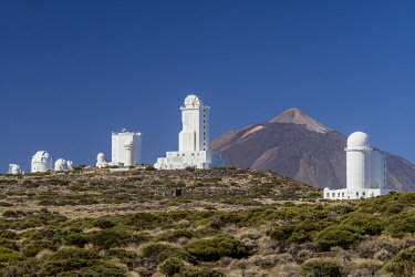 ES09617 Spain, Canary Islands, Tenerife Island, El Teide Mountain, Observatorio del Teide, astronomical observatory, morning
