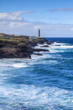 ES09707 Spain, Canary Islands, La Palma Island, Punta Cumplida, Faro Punta Cumplida lighthouse
