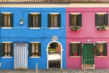 IT02931 Colourful houses, Burano, Venice, Veneto, Italy