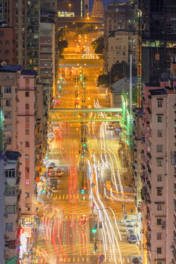 CH12122AWRF Traffic and apartment blocks, Shek Kip Mei, Kowloon, Hong Kong