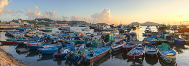 CH12129AWRF Fishing boats in harbour, Cheung Chau, Hong Kong