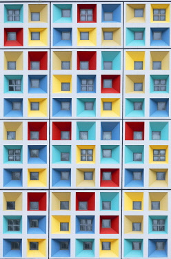 CH12043AW Colourful windows, Hong Kong