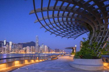 CH12090AW Tsim Sha Tsui promenade at dawn, Tsim Sha Tsui, Kowloon, Hong Kong