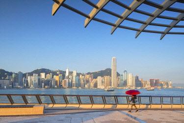 CH12095AW Tsim Sha Tsui promenade and skyline, Tsim Sha Tsui, Kowloon, Hong Kong