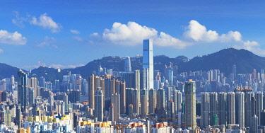 CH12111AW Skyline of Kowloon and Hong Kong Island, Hong Kong, China