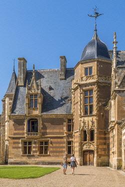 HMS3293157 France, Cher, Berry, chateau d'Ainay le Vieil castle, the Jacques Coeur road