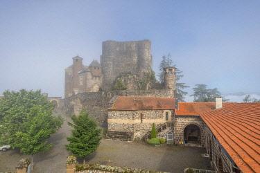 HMS3305370 France, Haute Loire, Arsac en Velay, Chateau de Bouzols, Bouzols castle, Loire valley