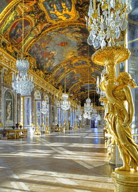 HMS3419620 France, Yvelines, Palace of Versailles, listed as World Heritage by UNESCO The Hall of Mirrors