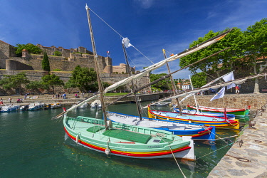 HMS3405687 France, Eastern Pyrenees, Collioure, Royal Castle