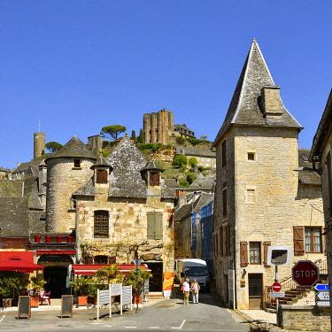 HMS3432130 France, Correze, Turenne, labelled Les Plus Beaux Villages de France (The Most Beautiful Villages of France), castle