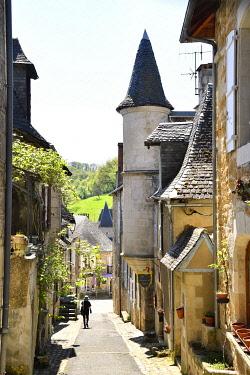 HMS3432132 France, Correze, Turenne, labelled Les Plus Beaux Villages de France (The Most Beautiful Villages of France), Rue Droite