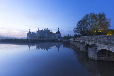 HMS3272824 France, Loir et Cher, Loire valley listed as World heritage by UNESCO, Chambord, the royal castle