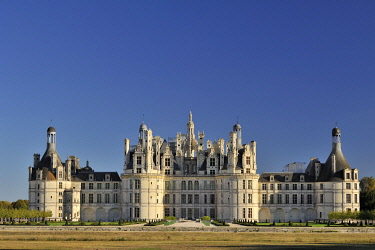 HMS3362459 France, Loir et Cher, Valley of the Loire listed as World Heritage by UNESCO, Chambord, the Royal Castle,