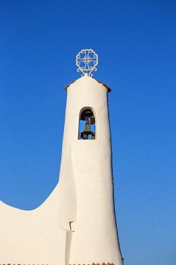 IT555RF Italy, Sardinia, Sassari Province, Costa Smeralda, Porto Cervo, Stella Maris Church by architect Michael Busiri Vici