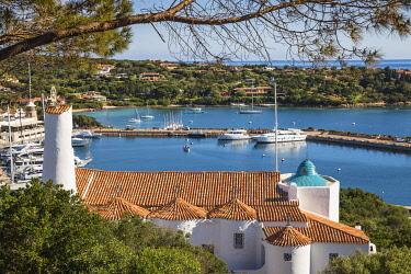 IT12355 Italy, Sardinia, Sassari Province, Costa Smeralda, Porto Cervo, Stella Maris Church by architect Michael Busiri Vici