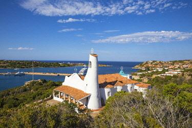 IT12375 Italy, Sardinia, Sassari Province, Costa Smeralda, Porto Cervo, Stella Maris Church by architect Michael Busiri Vici