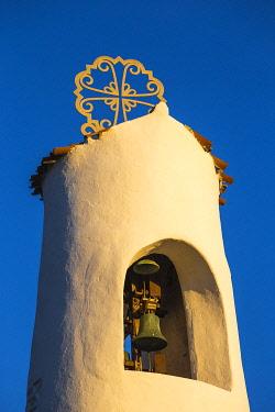 IT12388 Italy, Sardinia, Sassari Province, Costa Smeralda, Porto Cervo, Stella Maris Church by architect Michael Busiri Vici