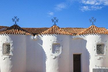 IT12393 Italy, Sardinia, Sassari Province, Costa Smeralda, Porto Cervo, Stella Maris Church by architect Michael Busiri Vici
