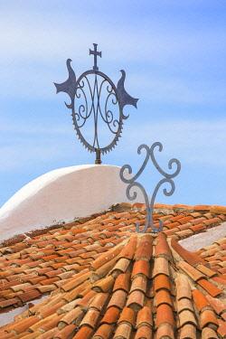 IT12394 Italy, Sardinia, Sassari Province, Costa Smeralda, Porto Cervo, Stella Maris Church by architect Michael Busiri Vici
