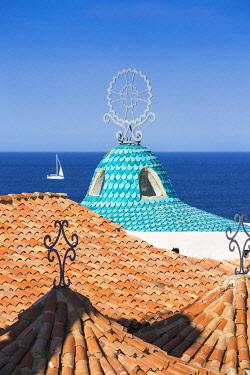 IT12398 Italy, Sardinia, Sassari Province, Costa Smeralda, Porto Cervo, Stella Maris Church by architect Michael Busiri Vici