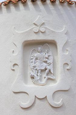 IT12400 Italy, Sardinia, Sassari Province, Costa Smeralda, Porto Cervo, Stella Maris Church by architect Michael Busiri Vici