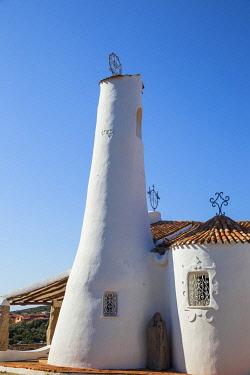 IT12404 Italy, Sardinia, Sassari Province, Costa Smeralda, Porto Cervo, Stella Maris Church by architect Michael Busiri Vici