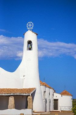 IT12407 Italy, Sardinia, Sassari Province, Costa Smeralda, Porto Cervo, Stella Maris Church by architect Michael Busiri Vici