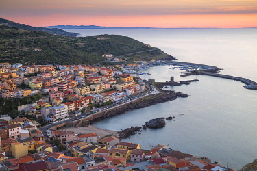 IT12408 Italy, Sardinia, Sassari Province, Castelsardo, View towards marina