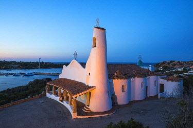 IT12431 Italy, Sardinia, Sassari Province, Costa Smeralda, Porto Cervo, Stella Maris Church by architect Michael Busiri Vici