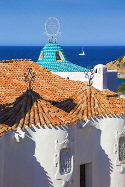 IT12439 Italy, Sardinia, Sassari Province, Costa Smeralda, Porto Cervo, Stella Maris Church by architect Michael Busiri Vici
