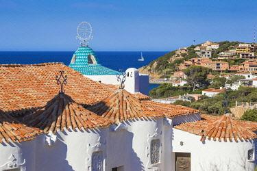 IT12440 Italy, Sardinia, Sassari Province, Costa Smeralda, Porto Cervo, Stella Maris Church by architect Michael Busiri Vici