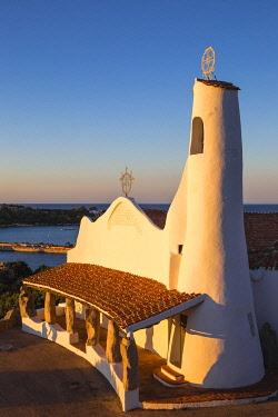 IT12446 Italy, Sardinia, Sassari Province, Costa Smeralda, Porto Cervo, Stella Maris Church by architect Michael Busiri Vici
