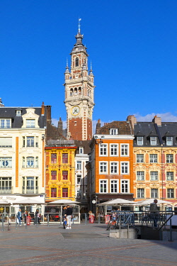 FR04028 The Grand Place and Lille Chamber of Commerce Belfry, Lille, France,