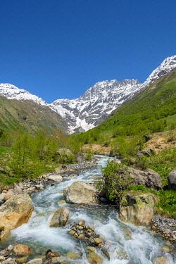GEO0449AW Ailama peak, and the source of the River Kolrudashi, Racha-Lechkhumi and Kvemo Svaneti region, Georgia.