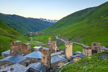 GEO0469AW Chazhashi and Murkmeli, Ushguli, Samegrelo-Zemo Svaneti region, Georgia.