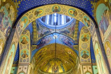 GEO0470AW Sioni Cathedral interior, Tbilisi (Tiflis), Georgia.