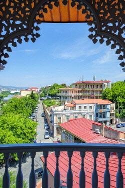 GEO0475AW View from Sachino Palace (Queen Darejan Palace), Metekhi, Tbilisi (Tiflis), Georgia.