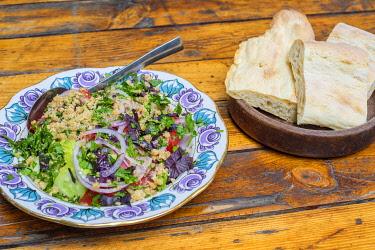 GEO0479AW Traditional Georgian cuisine, Walnut salad, Tbilisi (Tiflis), Georgia.