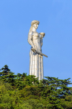 GEO0495AW Kartlis Deda, Mother of Georgia monument on Sololaki hill, Tbilisi (Tiflis), Georgia.
