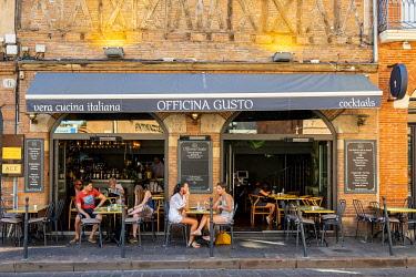 HMS3381155 France, Haute Garonne, Toulouse, Italian restaurant Officina Gusto